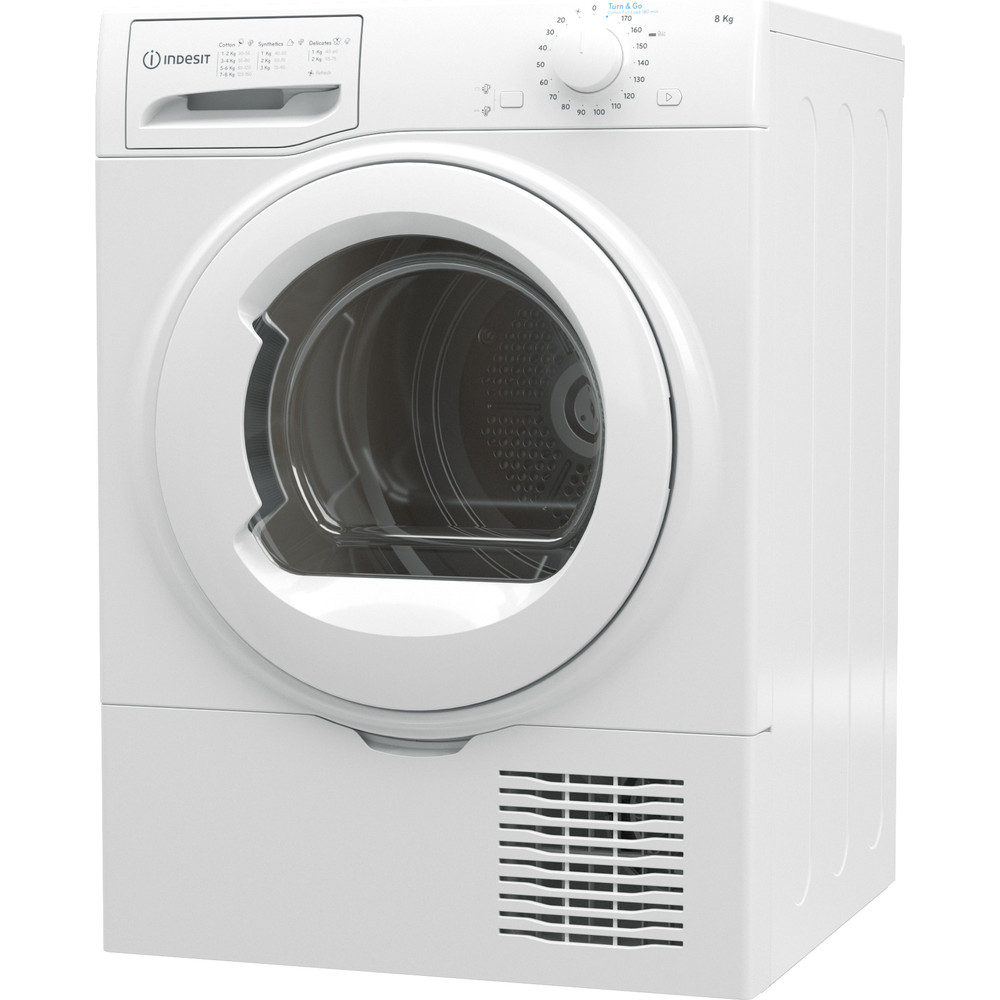 Indesit Dryer I2 D81W UK White Perspective