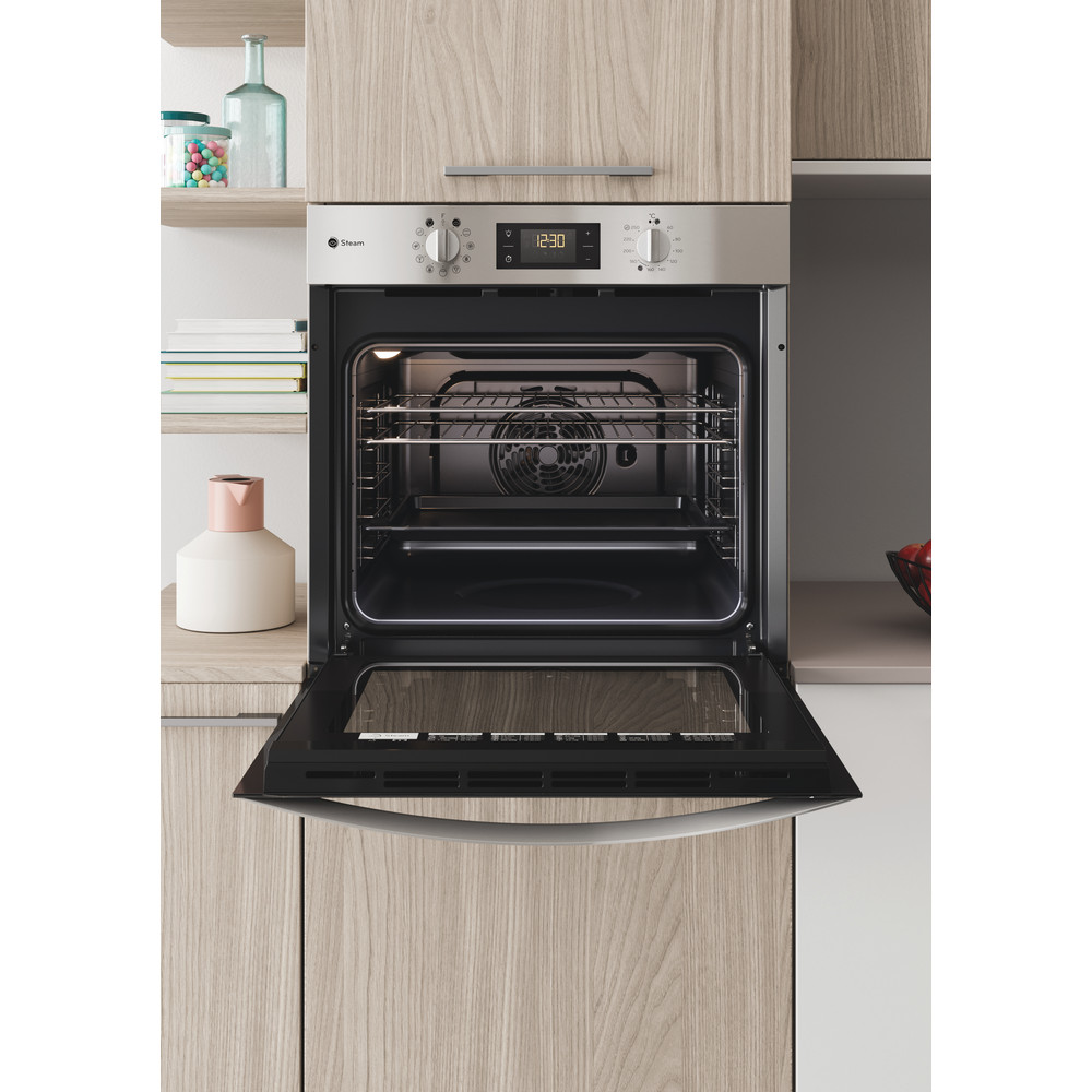 Indesit OVEN Built-in KFWS 3844 H IX UK Electric A+ Lifestyle frontal open