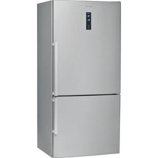 Whirlpool Fridge-Freezer Combination Free-standing W84BE 72 X UK 2 Inox 2 doors Perspective