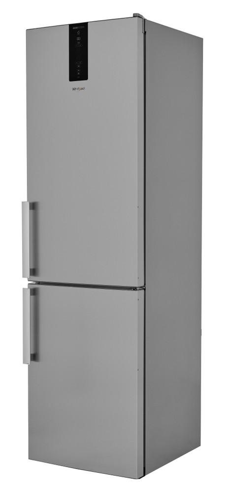 Whirlpool Fridge-Freezer Combination Free-standing W7 931T OX H 3 Optic Inox 2 doors Perspective