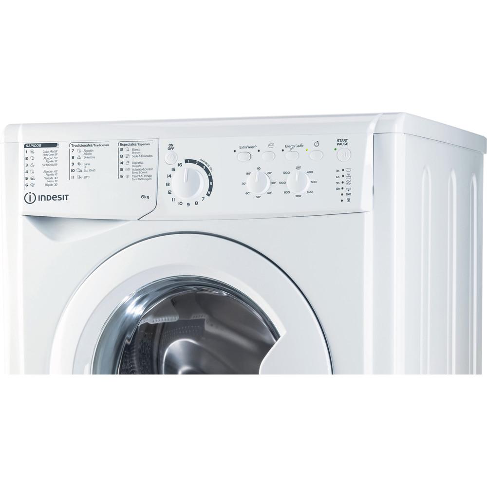 Indesit Máquina de lavar roupa Livre Instalação EWC 61251 W SPT N Branco Carga Frontal F Control panel