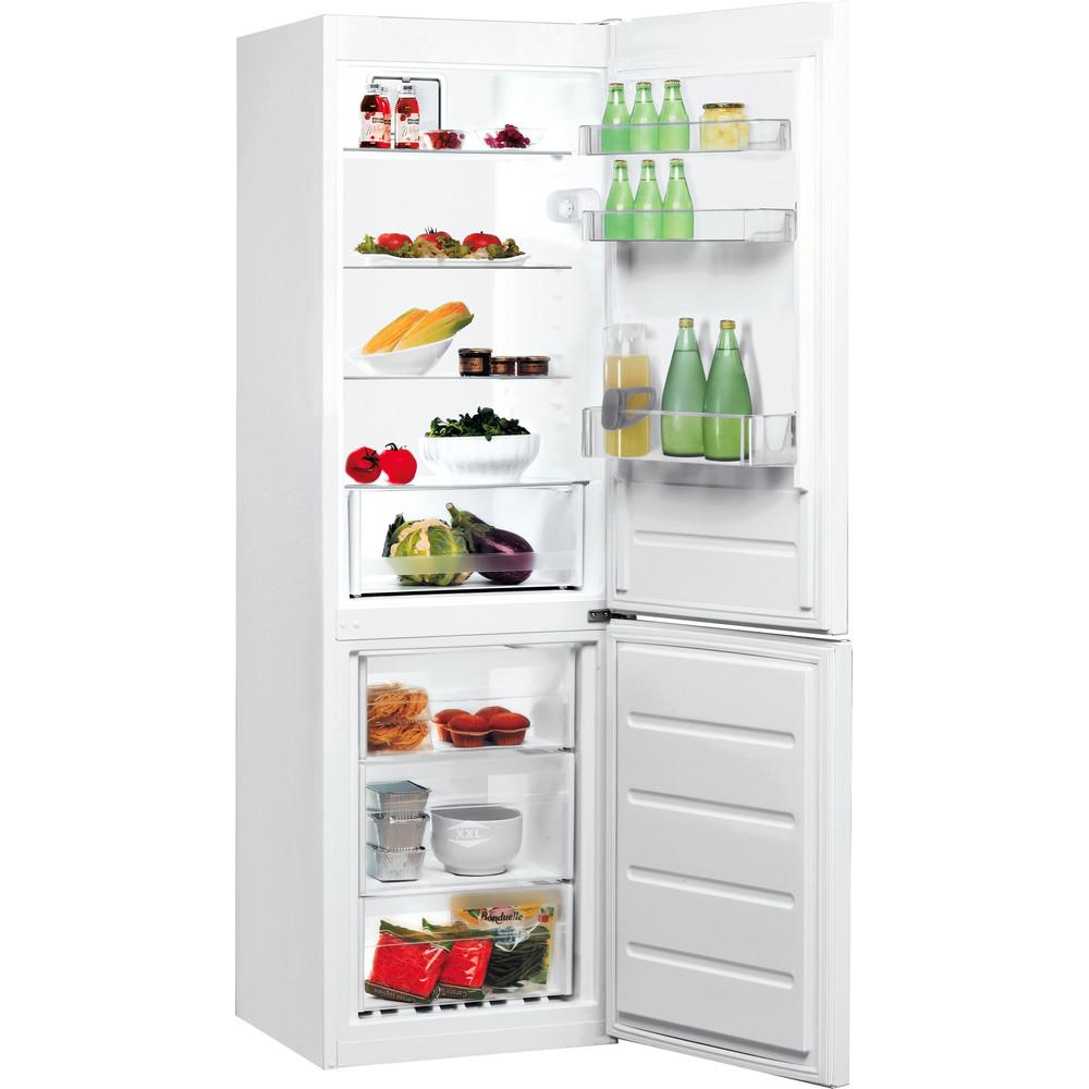 Indesit Combinazione Frigorifero/Congelatore A libera installazione LR8 S1 F W Bianco 2 porte Perspective open