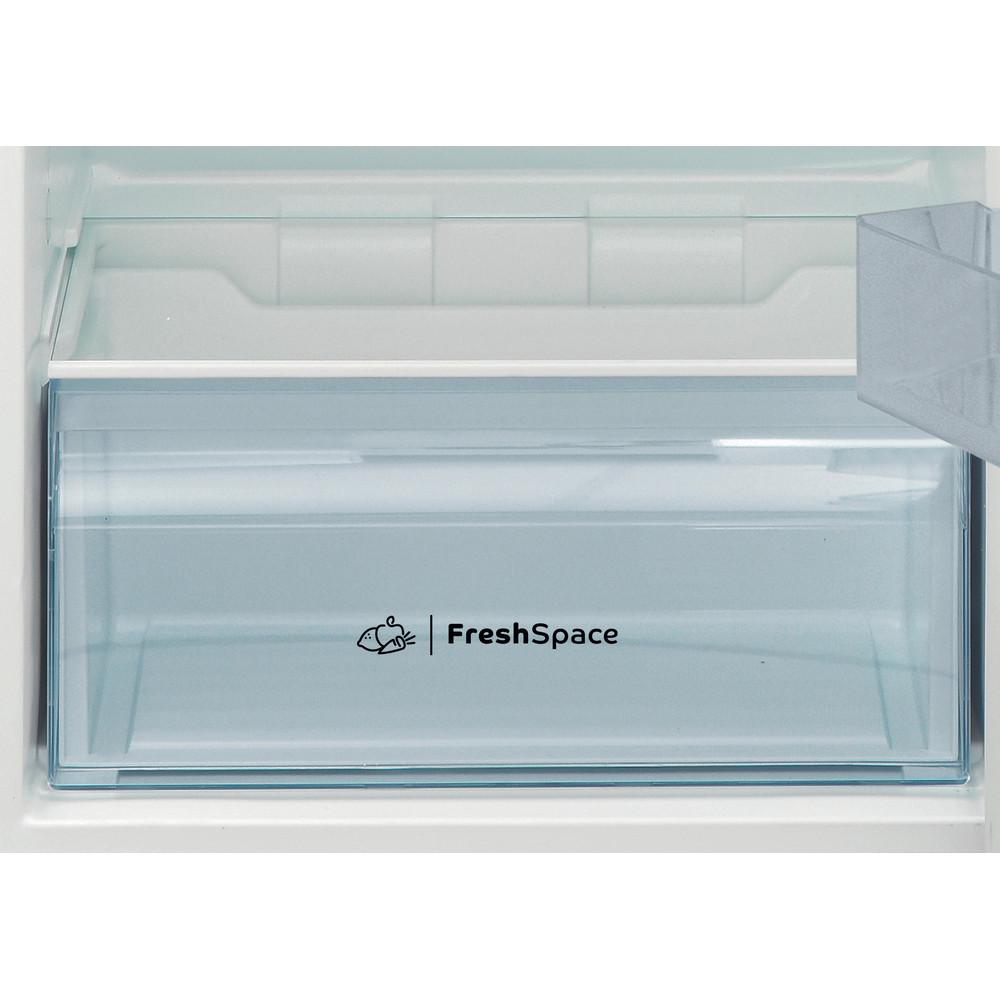 Indesit Combiné réfrigérateur congélateur Pose-libre I55TM 4110 S 1 Argent 2 portes Drawer