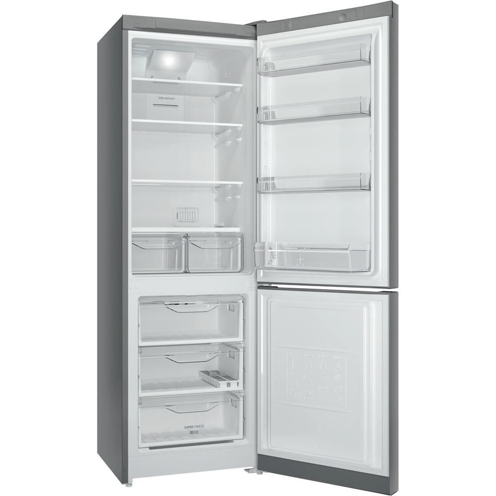 Indesit Холодильник с морозильной камерой Отдельностоящий DF 5180 S Серебристый 2 doors Perspective open