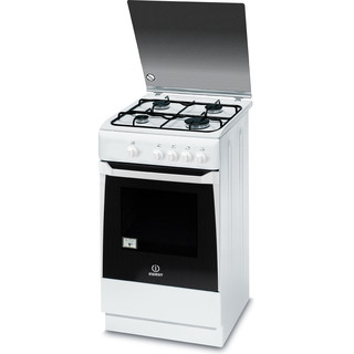 Indesit Cucina con forno a doppia cavità KN1G20S(W)/I Bianco Perspective