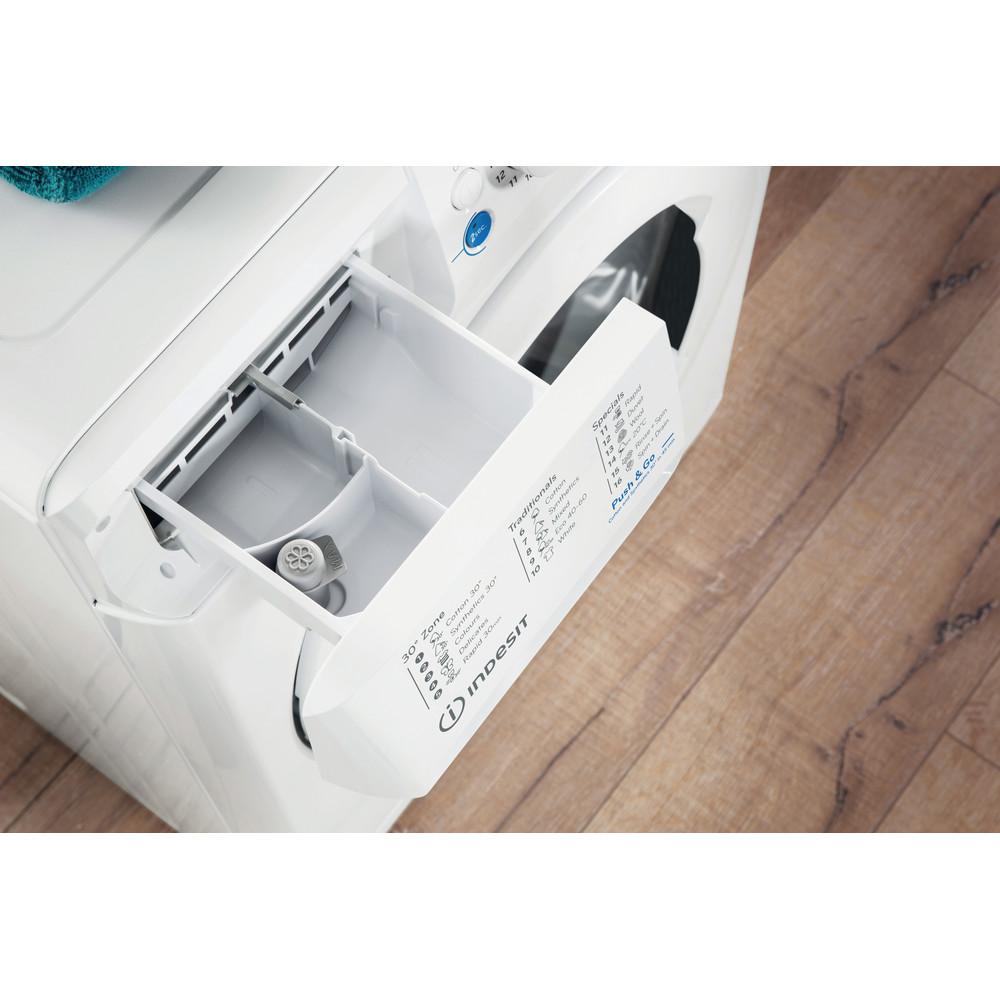 Indesit Pračka Volně stojící BWSA 51051 W EE N Bílá Front loader F Drawer