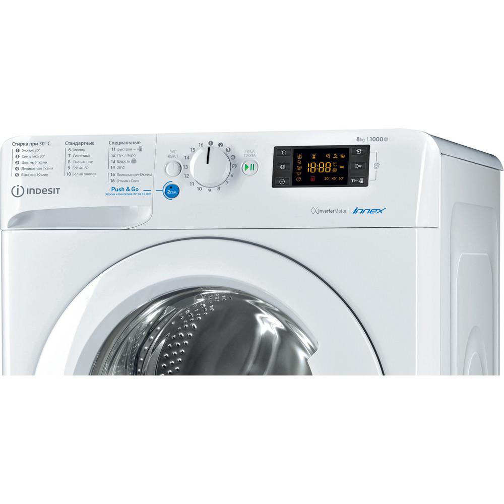 Indesit Стиральная машина Отдельностоящий BWSE 81082 L Белый Фронтальная загрузка A Control panel