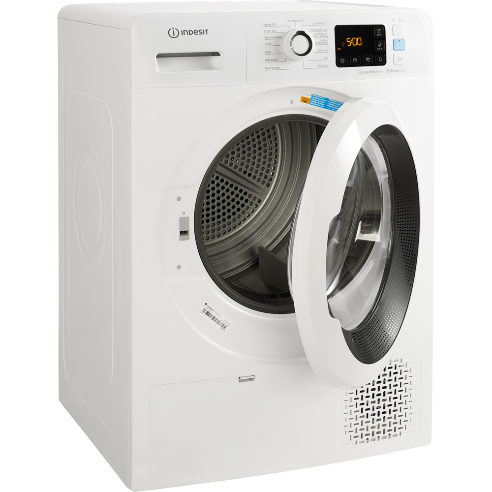 Indesit Droger YTBE M11 83K RX Wit Perspective open