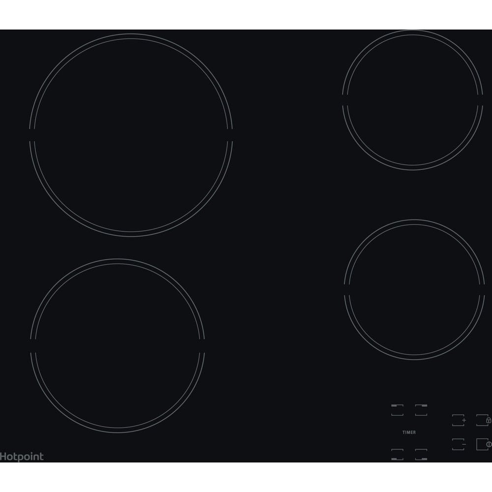 Hotpoint HOB HR 651 C H Black Radiant vitroceramic Frontal