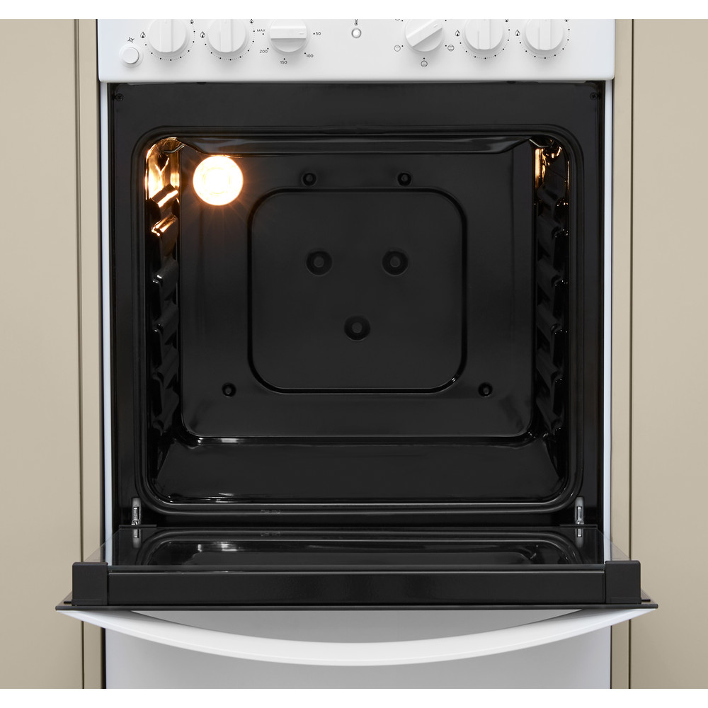 Indesit Плита IS5G4KHW/E Белый Газовая Cavity