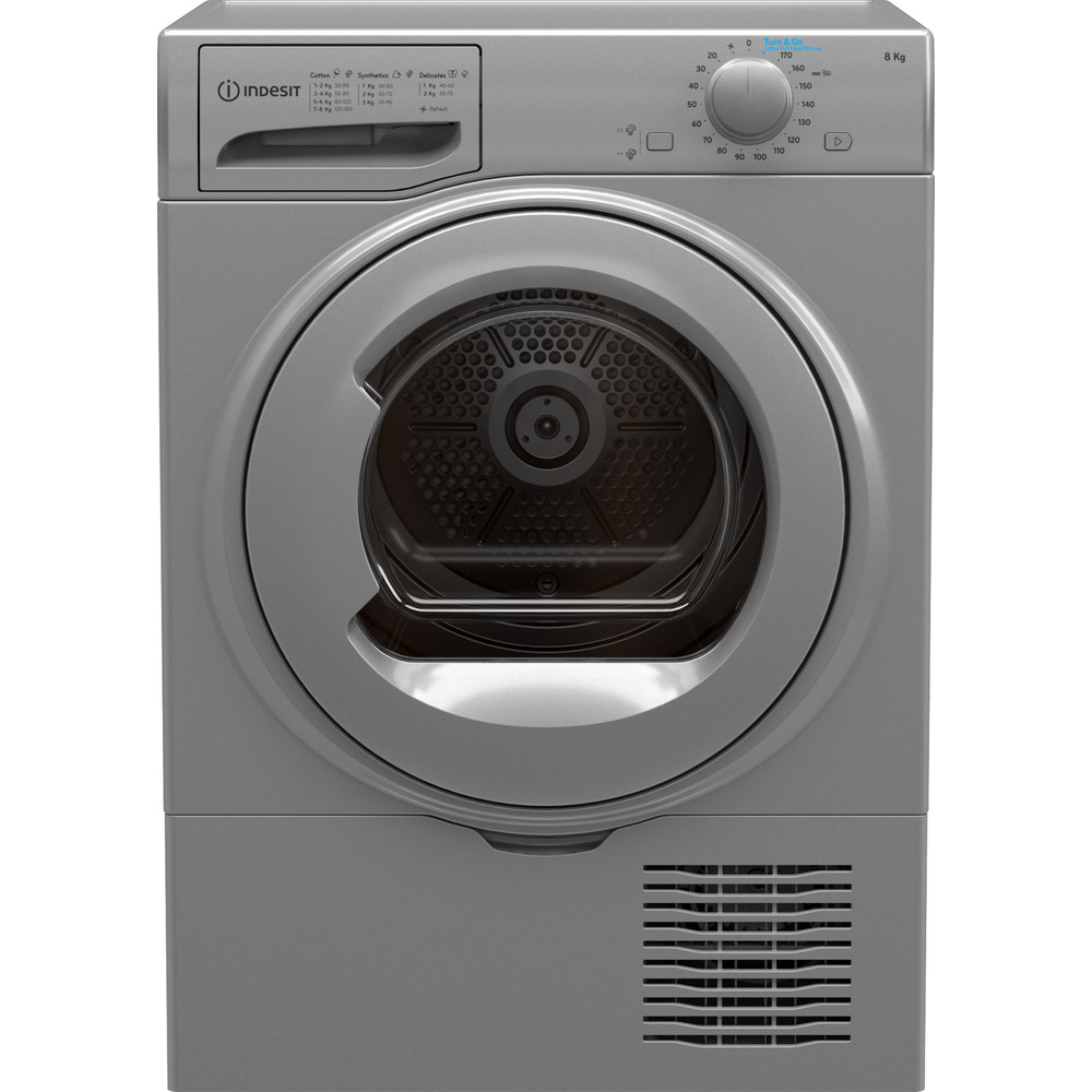 Indesit Dryer I2 D81S UK Silver Frontal