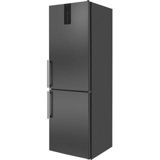 Whirlpool Fridge-Freezer Combination Free-standing W9 821D KS H (UK) Black/Inox 2 doors Perspective