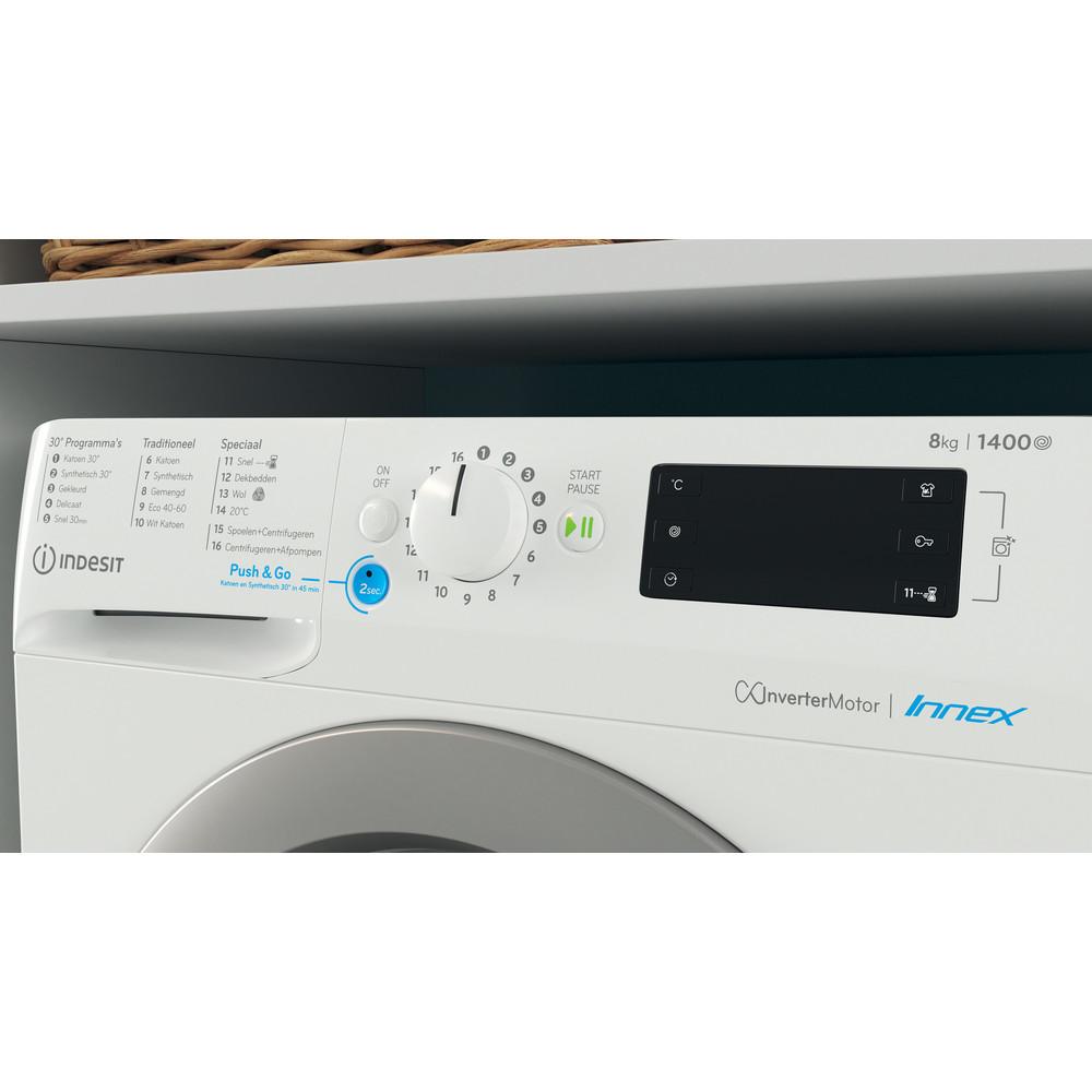 Indesit Wasmachine Vrijstaand BWENL 81484X WS N Wit Voorlader C Lifestyle control panel