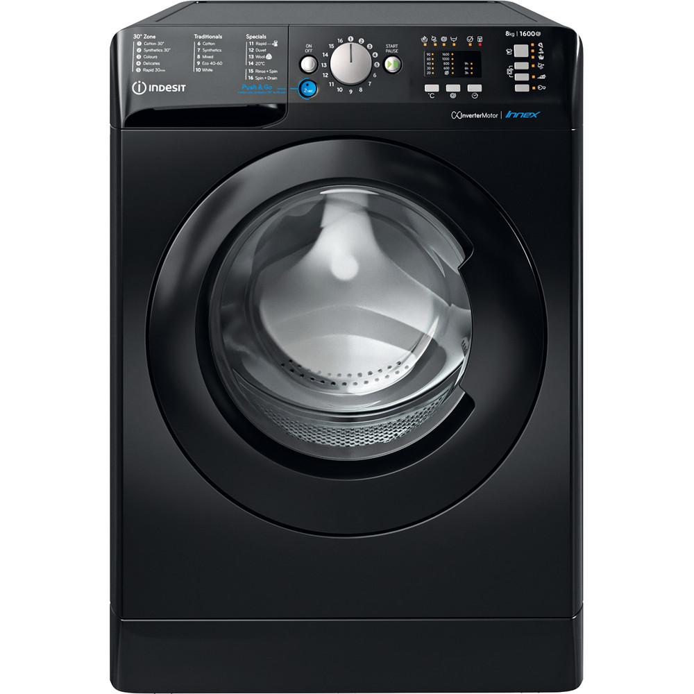 Indesit Washing machine Free-standing BWA 81683X K UK N Black Front loader D Frontal