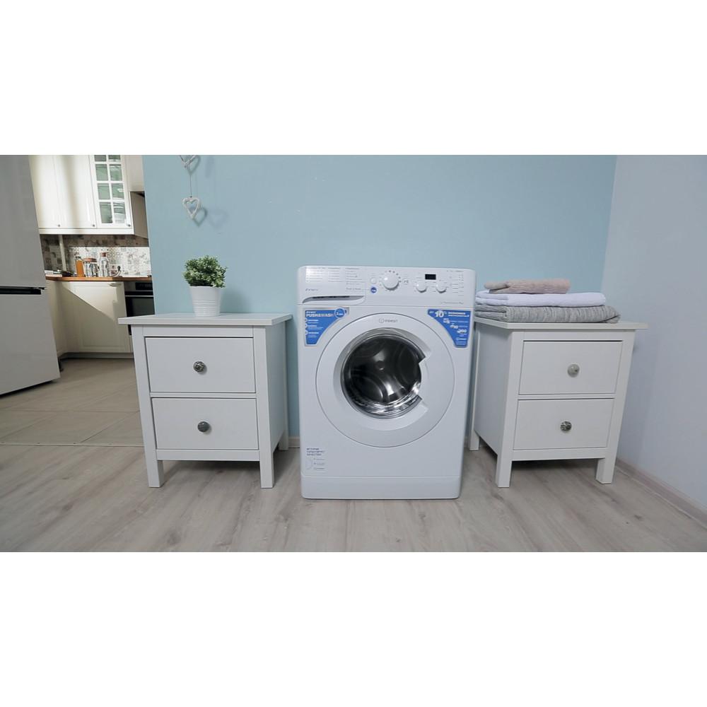 Indesit Стиральная машина Отдельностоящий BWSD 51051 Белый Фронтальная загрузка A Lifestyle_Frontal