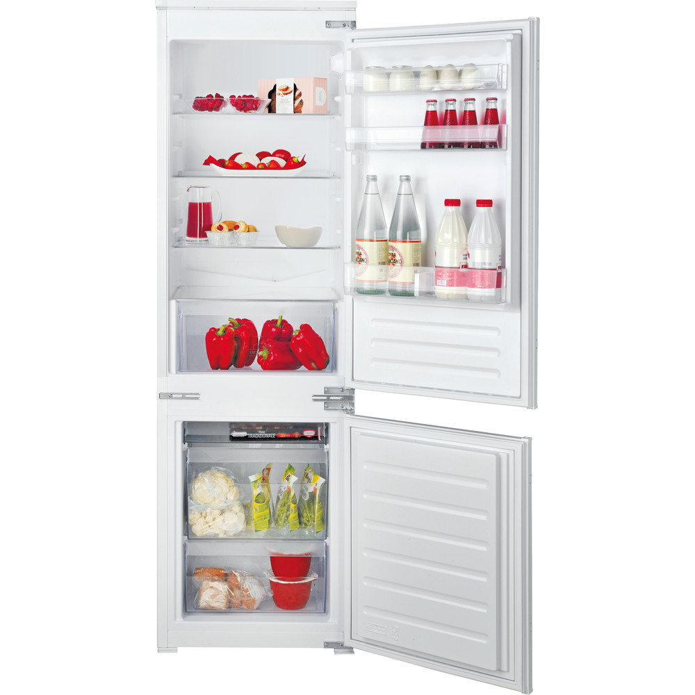 Hotpoint_Ariston Combinazione Frigorifero/Congelatore Da incasso BCB 703011 Bianco 2 porte Frontal open