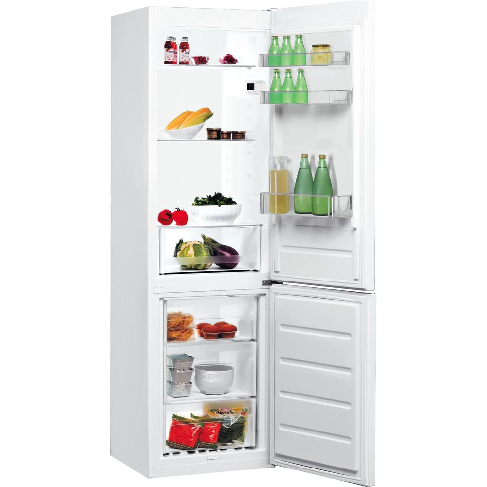 Indesit Kombinerat kylskåp/frys Fristående LI7 S1E W Global white 2 doors Perspective open