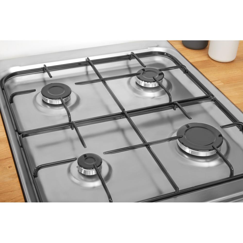 Indesit Kuchenka IS5G4KHX/E Inox Gazowy Heating element