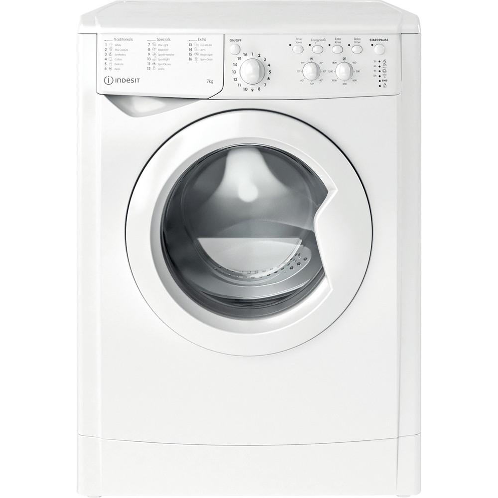 Indesit Washing machine Free-standing IWC 71452 W UK N White Front loader E Frontal