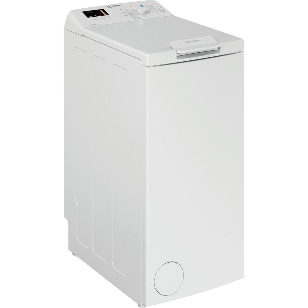 Indesit Waschmaschine Freistehend BTW D61253 N (EU) Weiß Toplader D Perspective