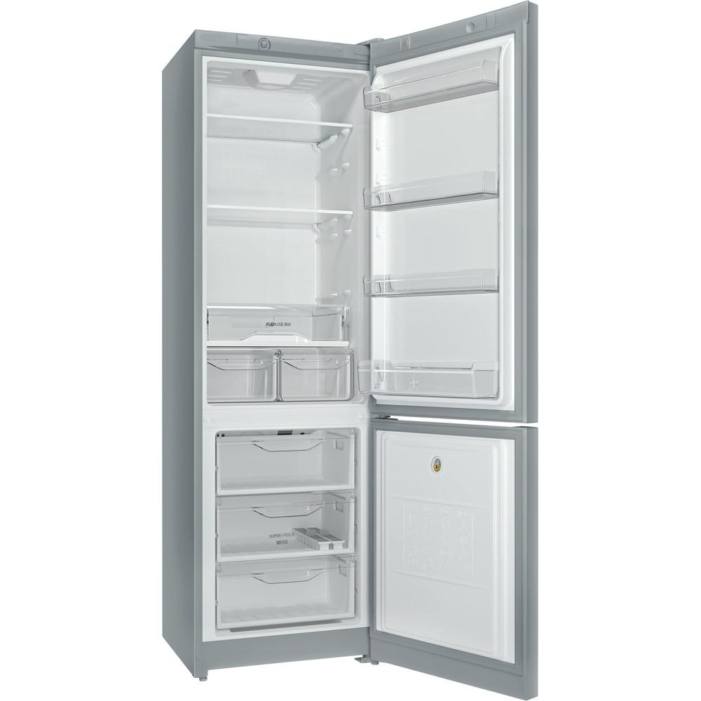 Indesit Холодильник с морозильной камерой Отдельностоящий DS 4200 SB Серебристый 2 doors Perspective open