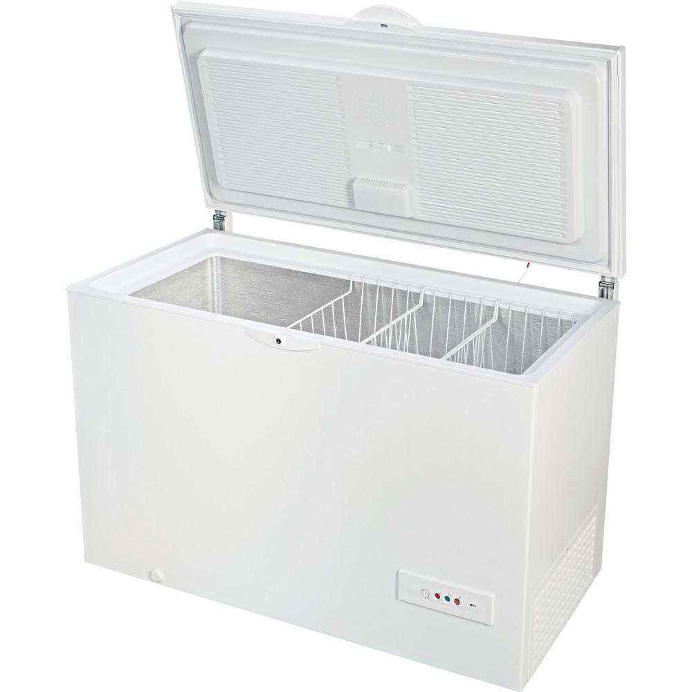 Indesit Congelador Livre Instalação OS 1A 450 H Branco Perspective open