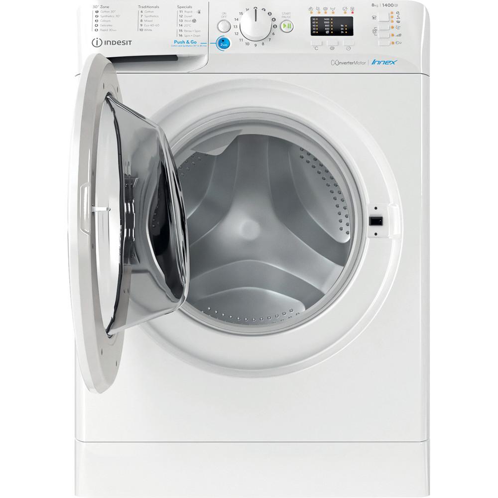 Indesit Washing machine Free-standing BWA 81484X W UK N White Front loader C Frontal open