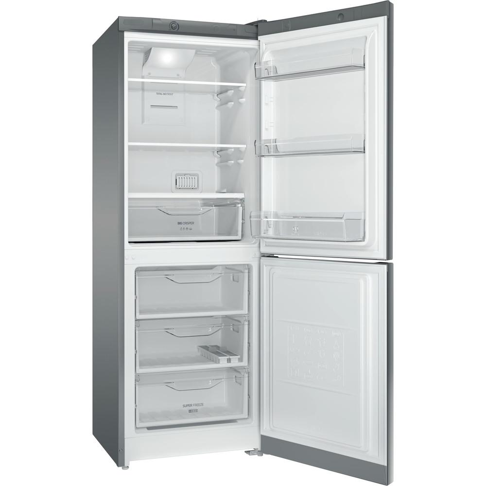 Indesit Холодильник с морозильной камерой Отдельностоящий DFE 4160 S Серебристый 2 doors Perspective open