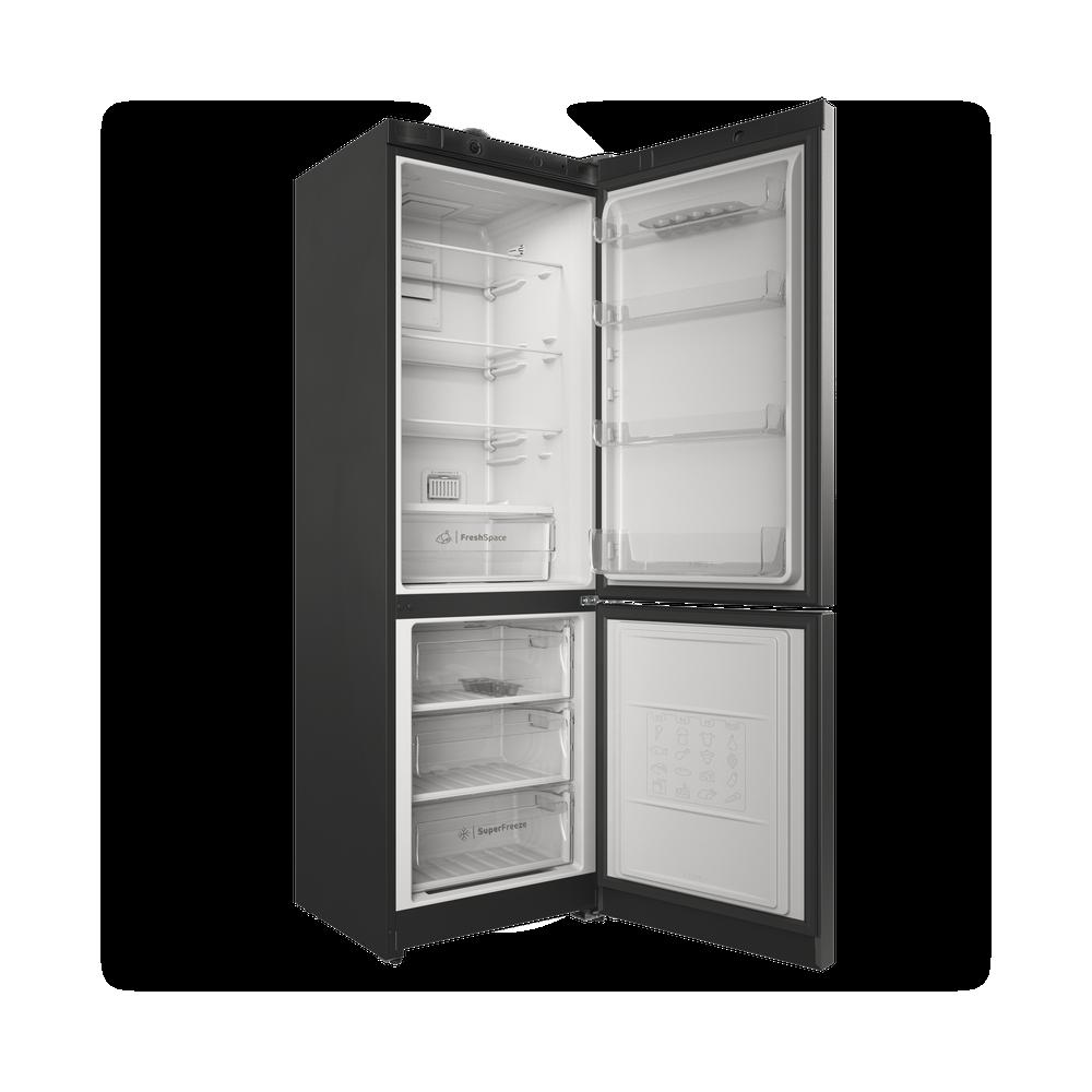 Indesit Холодильник с морозильной камерой Отдельностоящий ITS 4180 S Серебристый 2 doors Perspective open