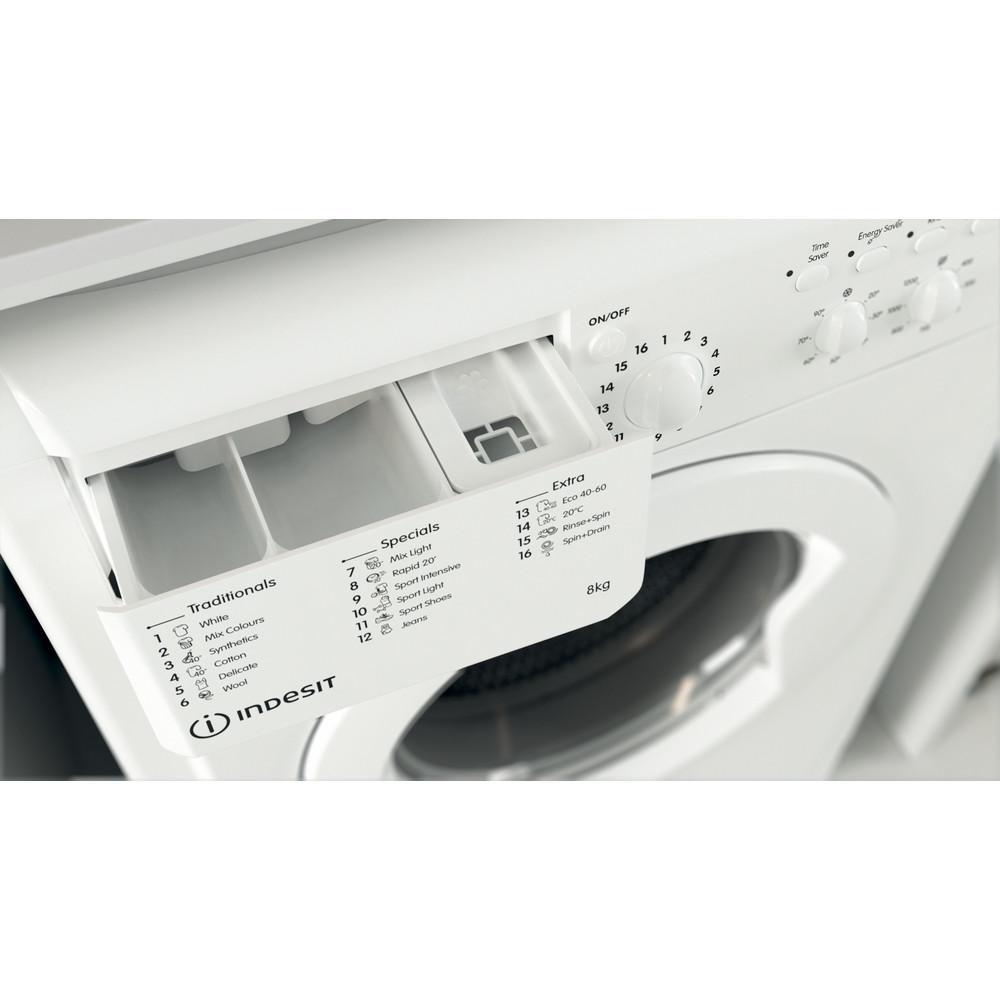 Indesit Washing machine Free-standing IWC 81251 W UK N White Front loader F Drawer