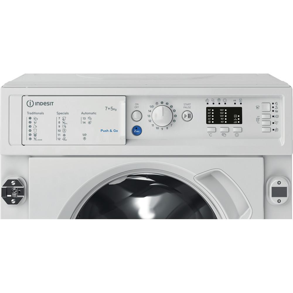 Indesit Lavadora secadora Encastre BI WDIL 751251 EU N Blanco Cargador frontal Control panel