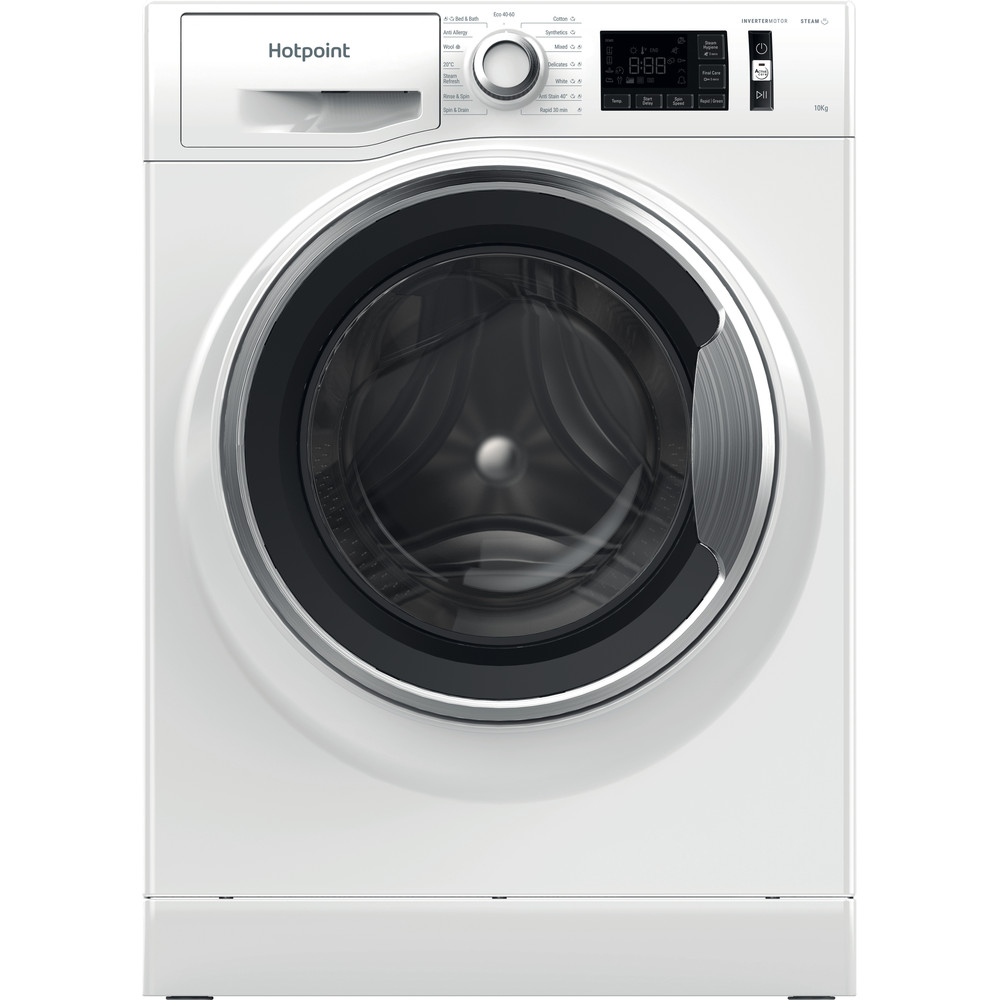 Hotpoint Washing machine Free-standing NM11 1044 WC A UK N White Front loader B Frontal