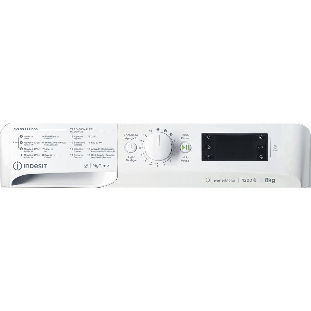 Indesit Lavadora Libre instalación MTWE 81283 W SPT Blanco Cargador frontal A +++ Control panel