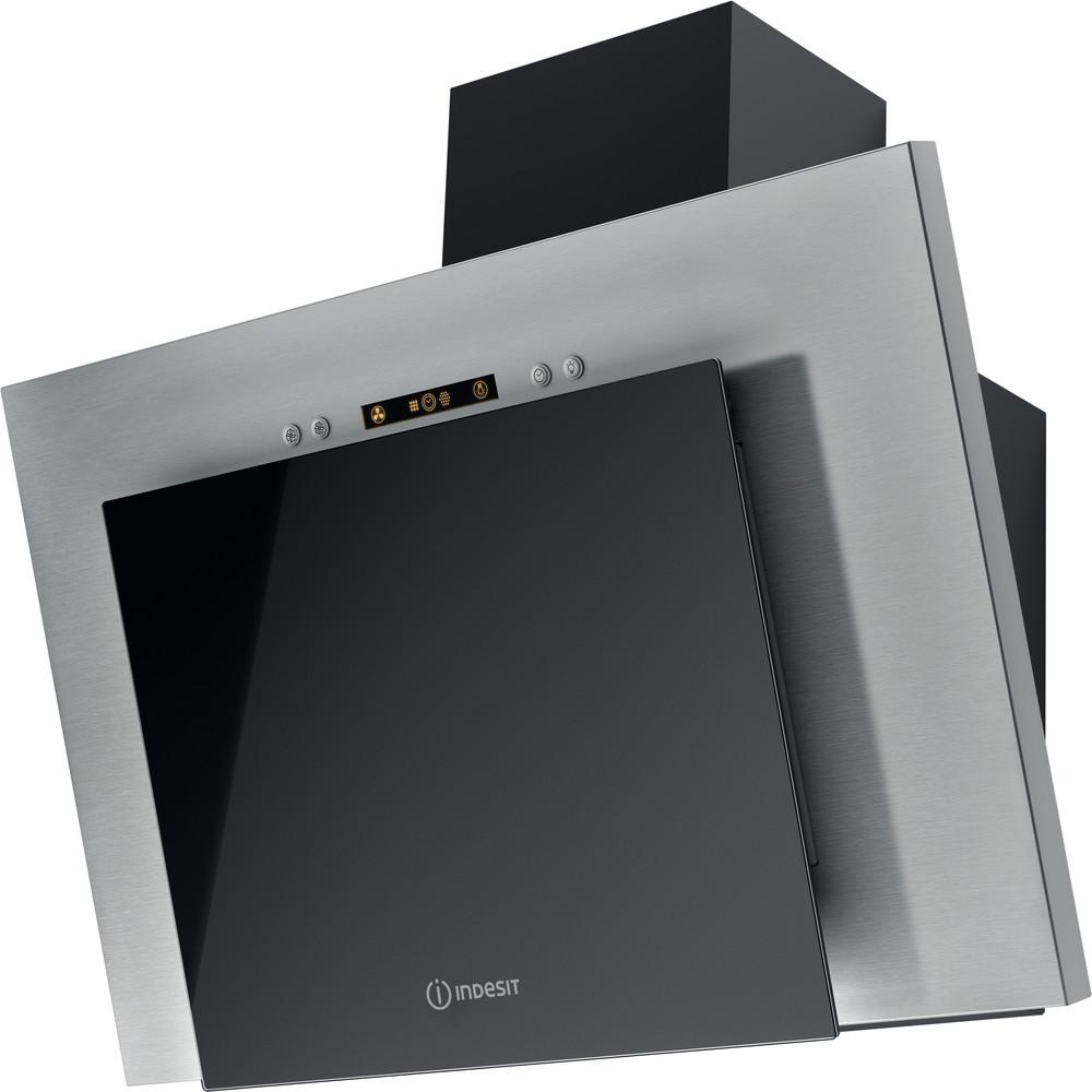 Indesit Вытяжной шкаф Встраиваемый IHVP 6.4 LL K Черный Wall-mounted Электронное Perspective