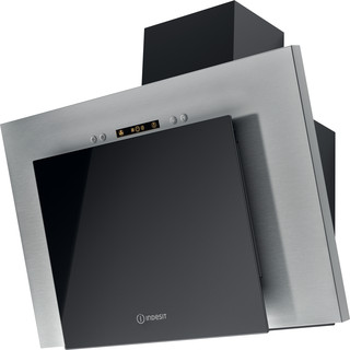Indesit HOOD Built-in IHVP 6.4 LL K Black Wall-mounted Electronic Perspective