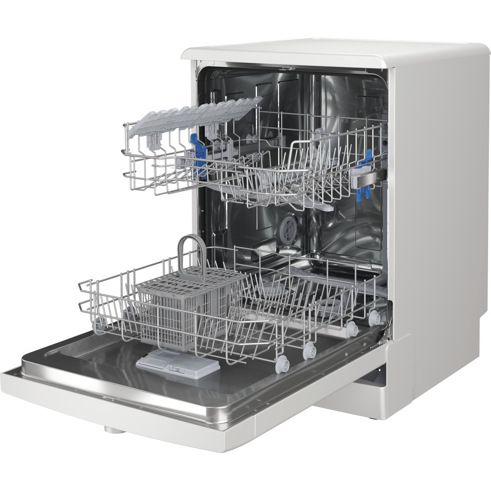 Indesit Dishwasher Free-standing DFE 1B19 UK Free-standing F Perspective open