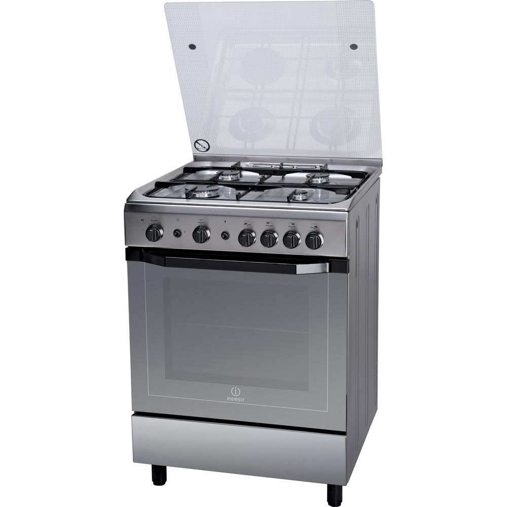 Indesit Cucina con forno a doppia cavità I6GG1F(X)/I Inox Perspective