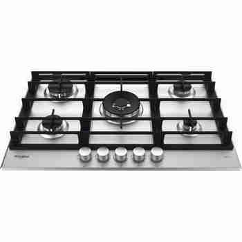 Whirlpool Table de cuisson GMWL 758/IXL FR Inox Ixelium Gaz Frontal top down