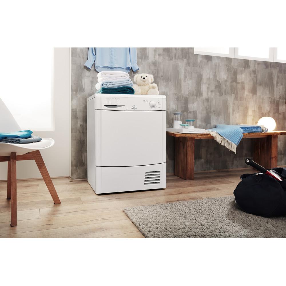 Indesit Dryer IDC 75 B (UK) White Lifestyle perspective