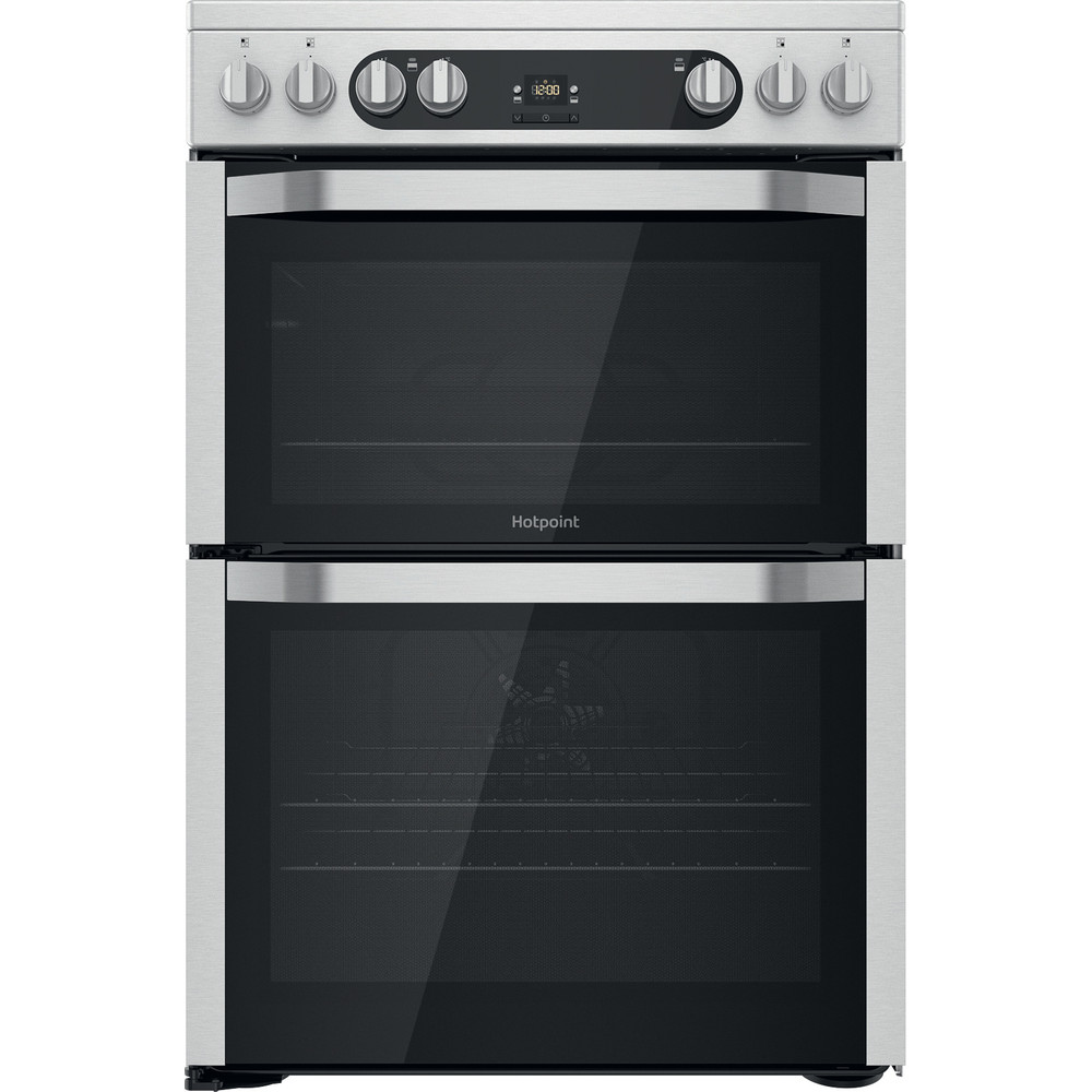 Hotpoint Double Cooker HDM67V9HCX/UK Inox A Frontal