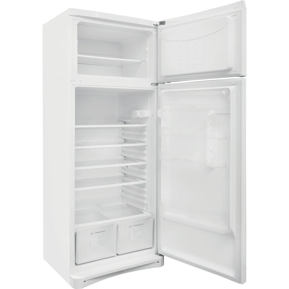 Indesit Combinación de frigorífico / congelador Libre instalación TAA 5 1 Blanco 2 doors Perspective open