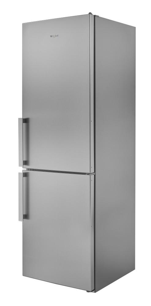 Whirlpool Fridge-Freezer Combination Free-standing W5 811E OX UK 1 Optic Inox 2 doors Perspective
