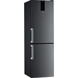 Whirlpool Fridge-Freezer Combination Free-standing W9 821D KS H (UK) 2 Black/Inox 2 doors Perspective