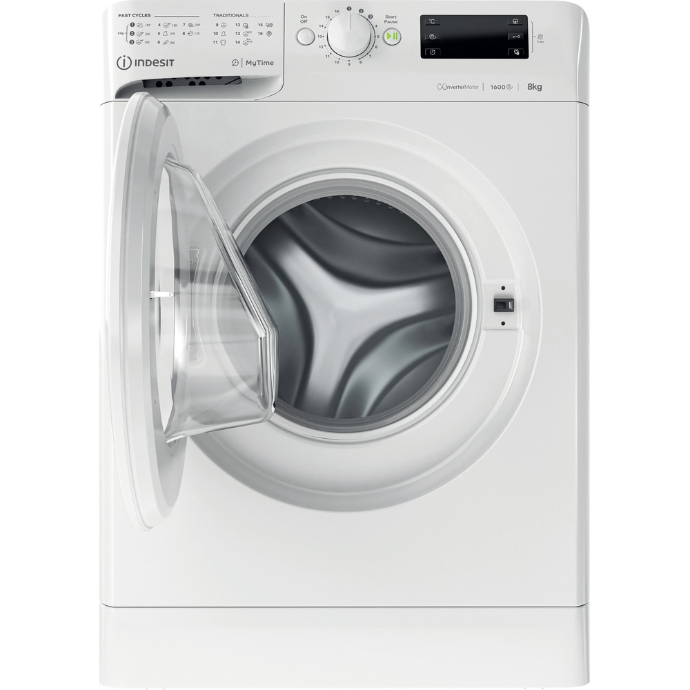 Indesit Lave-linge Pose-libre MTWE 81683 W EU Blanc Frontal D Frontal open
