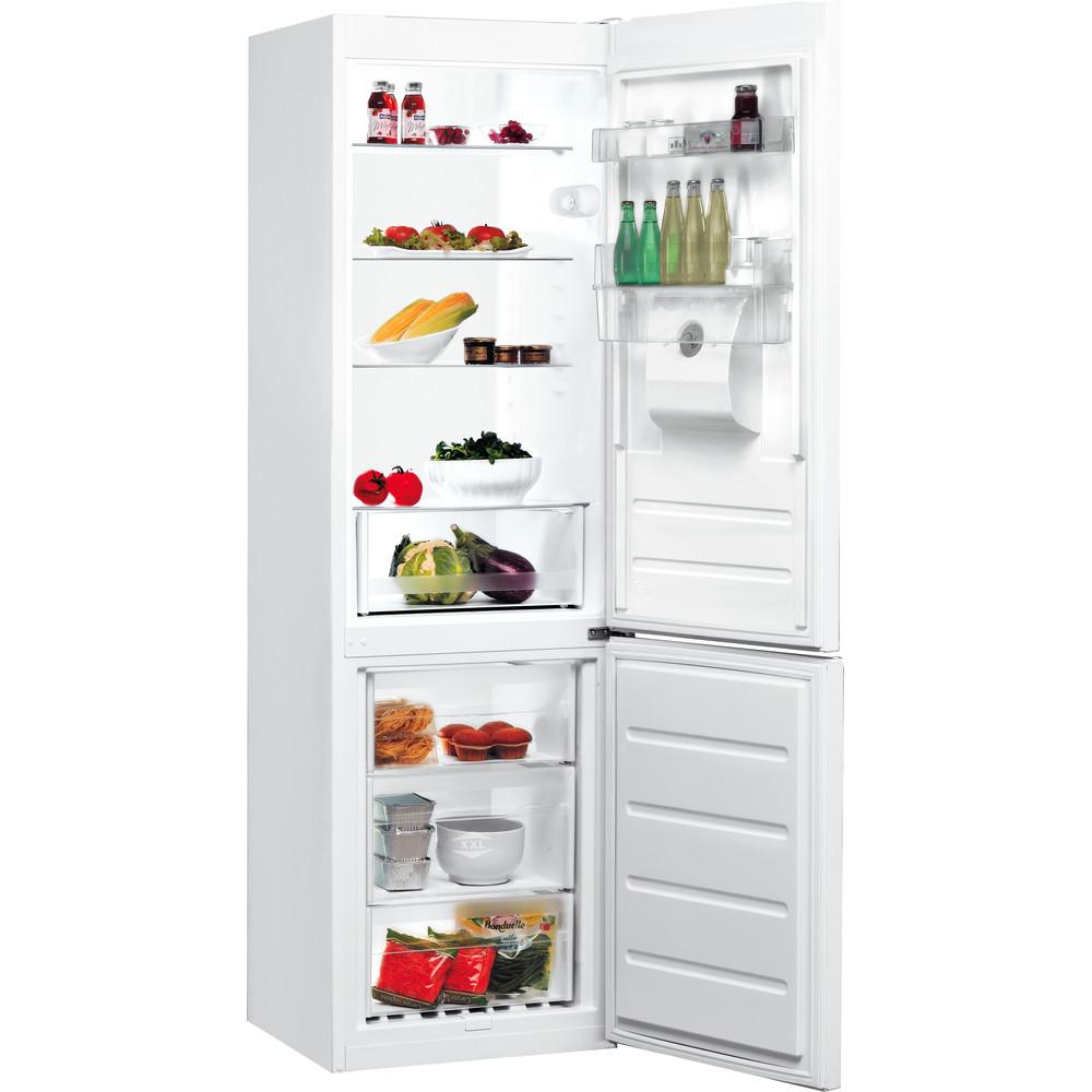 Indesit Комбиниран хладилник с камера Свободностоящи LR8 S1 W AQ Бял 2 врати Perspective open
