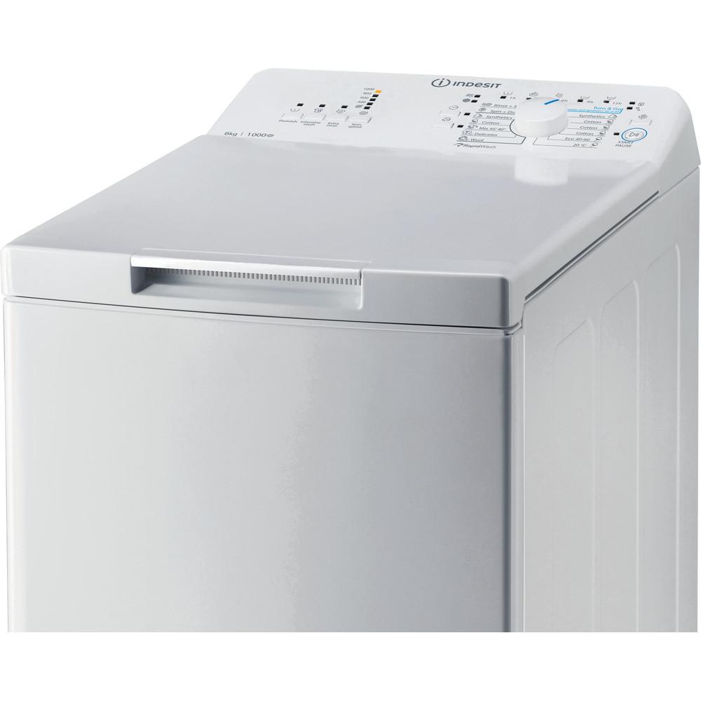 Indesit Πλυντήριο ρούχων Ελεύθερο BTW L60300 EE/N Λευκό Top loader D Control panel