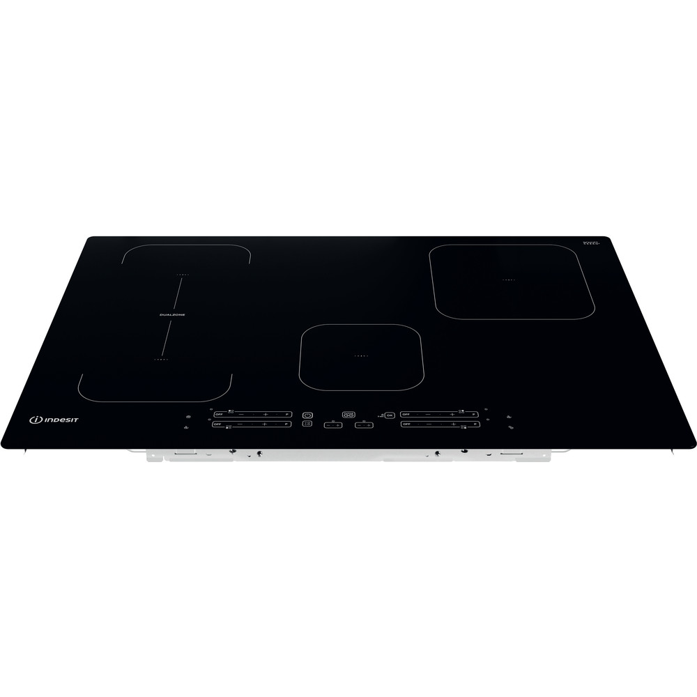 Indesit Table de cuisson IB 21B77 NE Noir Induction vitroceramic Frontal top down