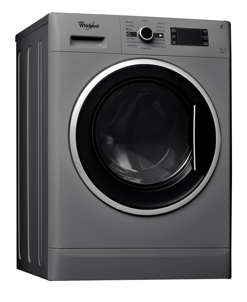 Whirlpool Washer dryer Free-standing WWDC 11716 S Silver Front loader Perspective