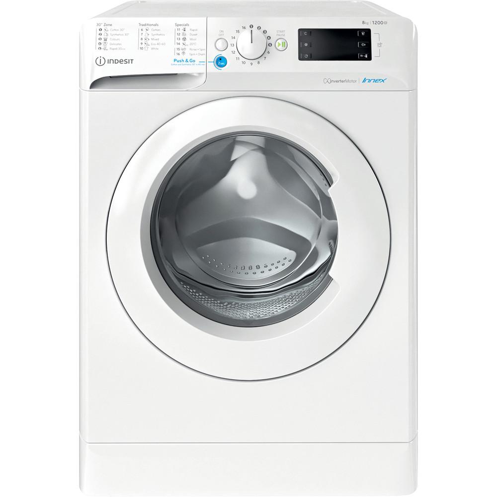 Indesit Πλυντήριο ρούχων Ελεύθερο BWE 81284X W EE N Λευκό Front loader C Frontal