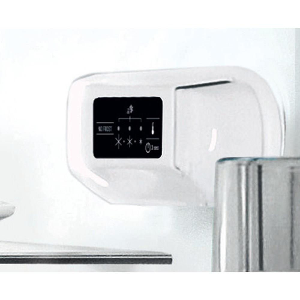 Indesit Hűtő/fagyasztó kombináció Szabadonálló LI7 SN2E X Inox 2 doors Control panel